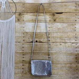 Vintage Silver Chainlink Crossbody